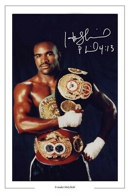 £1.89 • Buy Evander Holyfield Signed Photo Print Autograph Boxing