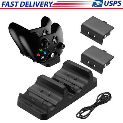$12.99 • Buy For XBOX ONE Dual Charging Dock Station Controller Charger With 2 Extra Battery