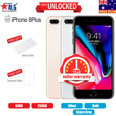 AU749.99 • Buy New Sealed Box Apple IPhone 8 Plus+256GB  Factory Unlocked Gray Silver Gold