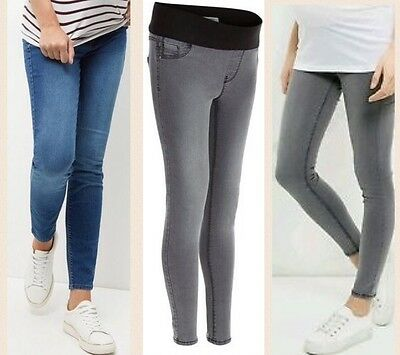 Grey Or Blue New Look Maternity Under Bump Jeggings Skinny Jeans 10-18. BNWT • 6.29£