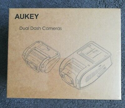 AU269.07 • Buy AUKEY Dash Cam Dual 1080P Front And Rear In Car Camera 6-Lane 170° Wide-Angle