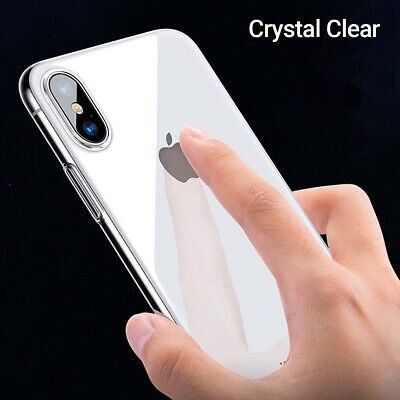 Crystal Clear Case IPhone XS Max XS XR X 11 Pro 8 7 Plus SE Protector Hard Cover • 2.29£