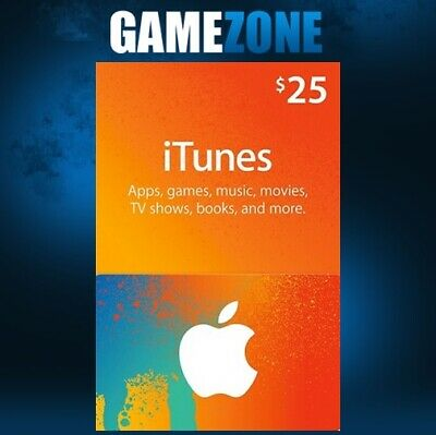 AU43.26 • Buy ITunes Gift Card $25 USD USA Apple ITunes Code 25 Dollars United States Digital