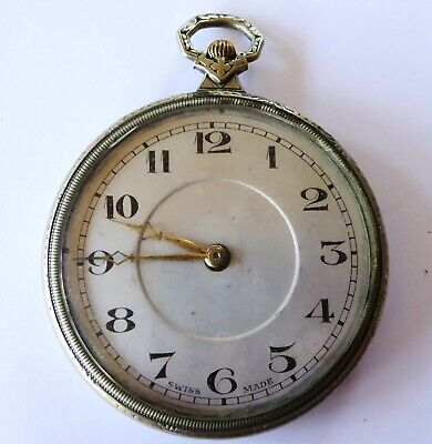 1920s Mechanical Art Deco Pocket Watch  With A CYMA Mechanical Movement • 90.58£