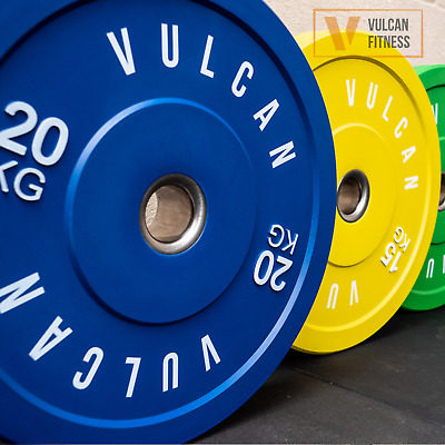 AU119 • Buy VULCAN Olympic Colour Bumper Weight Plates Set | 1.5kg To 25kg | IN STOCK