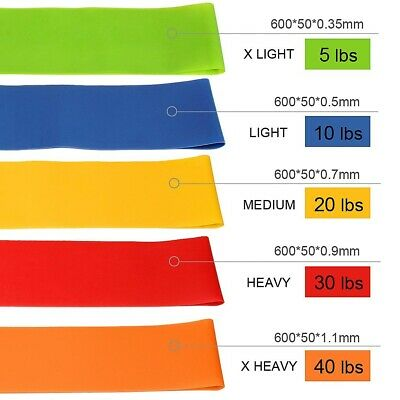 $ CDN11.95 • Buy Professional Elastic Workout Resistance Stretching Bands // UK STOCK