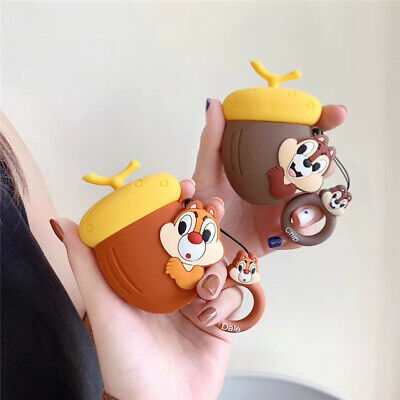 $ CDN8.14 • Buy For AirPods Case 3D Cartoon Squirrel Protective Silicone Earphone Charging Cover