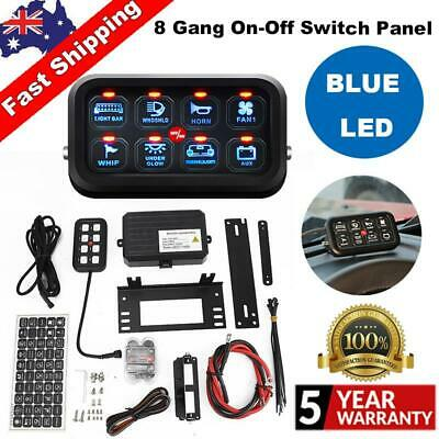 AU185.55 • Buy 8 Gang Blue LED Touch Switch Panel Control System Car Boat Motorcycle Universal