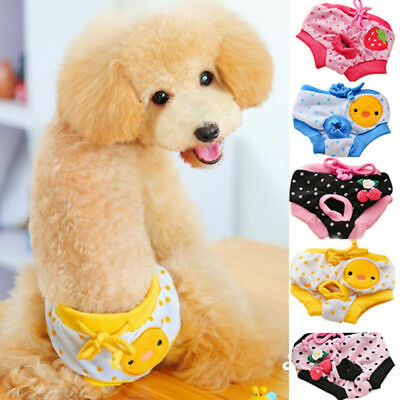 Female Pet Dog Season Heat Pant Bitch Menstrual Sanitary Puppy Nappy Diaper S-XL • 2.59£