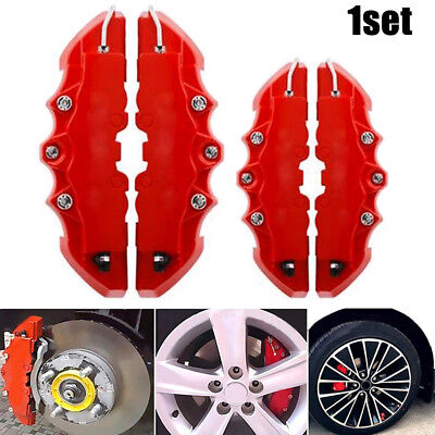 £8.89 • Buy 4PCS 3D Red Car Disc Brake Caliper Cover Front & Rear Accessories Kits Universal