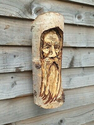 Chainsaw Carved Green Man / Wood Spirit • 24.99£