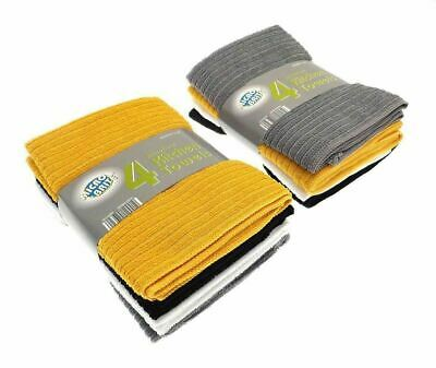 £5.95 • Buy 4 Pack Large Microbrite Kitchen Tea Towel Set Dish Drying Absorbent 4 Colours