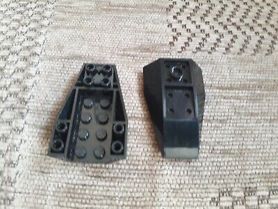 Lego Wedge 6 X 4 Triple Inverted Curved Part No: 43713 Black X 2 • 1.65£