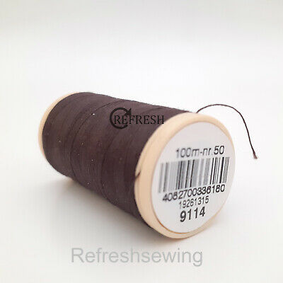 £1.99 • Buy Coats 100% Cotton Brown Sewing Thread 100m Number 9114 ( Ticket 50 )