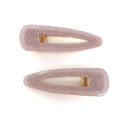 £6.99 • Buy Ladies Hair Clips Dusky Pink Sparkly Clips Set Of 2