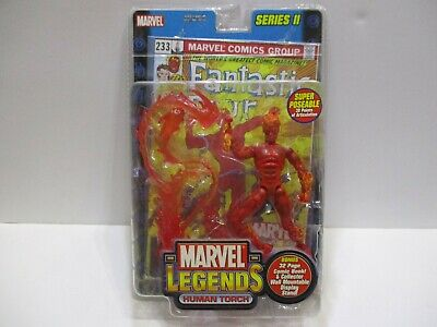 $28.96 • Buy Marvel Legends Series 2  Human Torch   W/  Comic And Stand