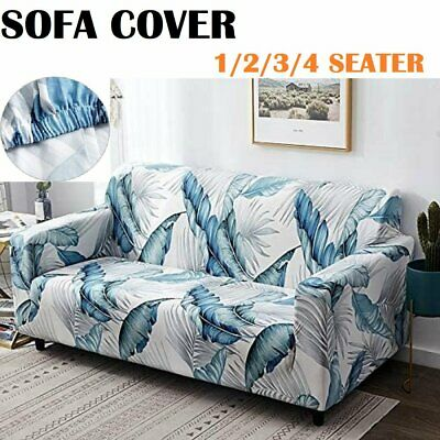AU28.49 • Buy Easy Stretch Couch Sofa Covers 1/2/3/4 Seater Recliner Lounge Dining Chair Cover