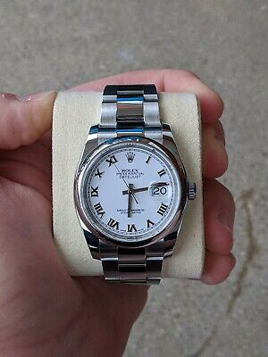 $ CDN8390.77 • Buy Rolex Datejust 36mm White Dial, Roman Numerals, 116200, Boxes And Card