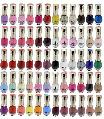 £3.49 • Buy Saffron Nail Polish Varnish - 84 Colours To Choose From- Glossy, Glitter, Pearls
