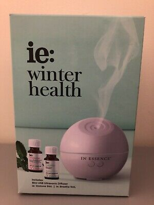 AU80 • Buy In Essence Winter Health USB Diffuser And Essential Oil Gift Set