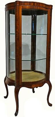 $2200 • Buy Antique Early 20th C. Free Standing Rounded Display Cabinet W/ Serpentine Panels