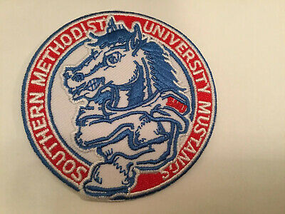 $6.95 • Buy SMU Southern Methodist University VINTAGE EMBROIDERED IRON ON PATCH 2.75""