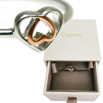 Clogau Ring Size L,M,N,O,P Celtic Affinity Heart Silver Welsh 9ct Rose Gold NEW • 49.99£