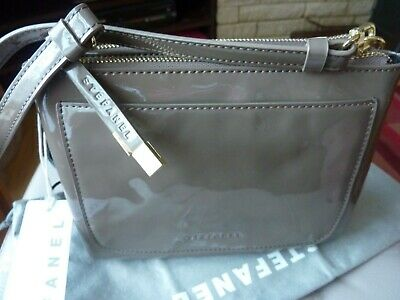 £22.99 • Buy STEFANEL CROSSBODY BAG TAUPE PATENT LOOK BNWT 21.5X16X3cm DUSTBAG REMOVABLE STRA