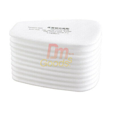 AU10.95 • Buy 10pcs Pack 5N11 White Cotton Filter Replacement Filters For 6800 7502 Respirator