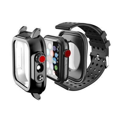 AU24.99 • Buy Waterproof Protective Full Cover Case For Apple Watch Series 5 4 3 38/42/40/44mm