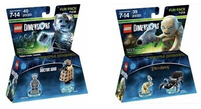 AU65 • Buy LEGO Dimensions 71238 Doctor Who & 71218 Lord Of The Rings Fun Packs BNIB