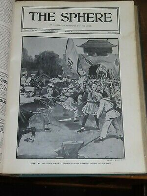 1901 The Sphere Illustrated News Vol 5 China Boxer Peking Boer War South Africa* • 99.99£
