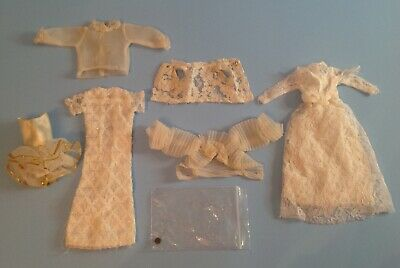 $ CDN20 • Buy Vintage 1960s Barbie Lot Of 6pcs Clothes LACE & TULLE Wedding Dresses, Blouses,