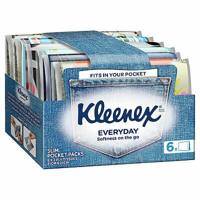 AU3.16 • Buy Kleenex Everyday Slim Pocket Pack Tissues 6 Pack