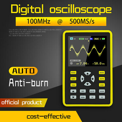 2.4  LCD Screen Handheld Digital Mini Oscilloscope With 100MHz Bandwidth 500MS/s • 64.59£