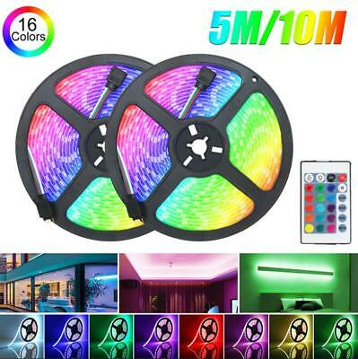 $15.48 • Buy 32FT Flexible Strip Light 3528 RGB LED SMD Remote Fairy Lights Room TV Party Bar
