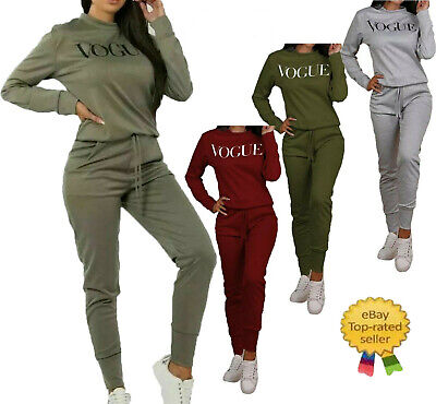 New Style UK Women VOGUE Print 2 Piece Co-Ord Lounge Wear Tracksuit Ladies Long • 14.95£