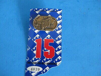 $14.95 • Buy 1996 Indy 500 Bronze Pit And Garage Access Badge On Holder. Both Numbered