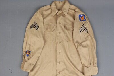 Vtg Men's 1940s WWII USAAF Army Air Force 2nd Air Corps Uniform Shirt M 40s WW2  • 32.91£