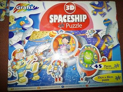 Grafix 3D SPACESHIP Puzzle 30x40cm (Free P&P) Ideal  Gift (As Pictured) • 10.95£