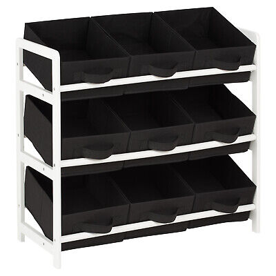 Hartleys 3 Tier Storage Shelf Unit Kids Childrens Bedroom Boxes/Drawers Toy Box • 23.99£