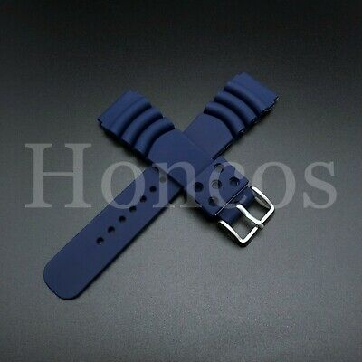 $ CDN10.65 • Buy 22MM Replacement Black Band Strap Rubber Vent Fits SEIKO DIVER Watch Black USA