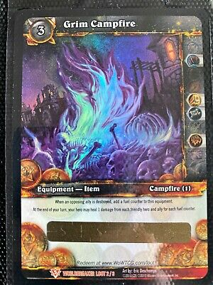 World Of Warcraft WOW TCG: Grim Campfire Loot Card • 88.07£