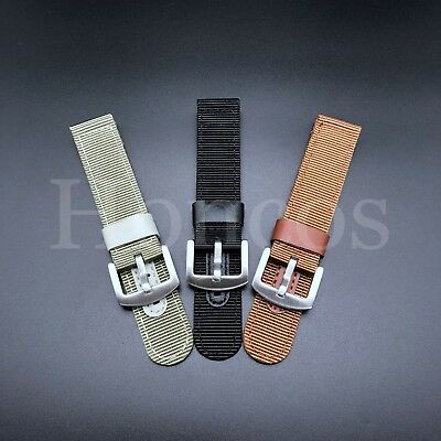 $ CDN12.55 • Buy 18 -24 MM Black Leather Canvas Nylon Diver Watch Band Strap Military Fits Seiko