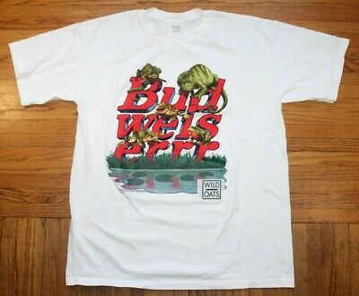 $ CDN44 • Buy 1998 Budweiser Beer Frogs Shirt Mens XL Graphic Vintage Beer Lager USA Wild Oats