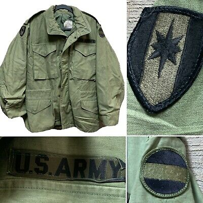 $495 • Buy Vietnam 1972 Army Coat Man's Cold Weather Og 107 M-65 Field Jacket - Small Short