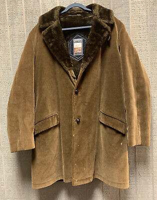£61.83 • Buy Vintage Mighty Mac Out O' Gloucester Golden Brown Corduroy Jacket Coat Size 44L