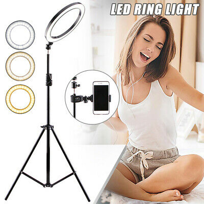 AU49.75 • Buy 16cm LED Ring Light Selfie Video Camera Phone Studio Stand Dimmable Makeup Light