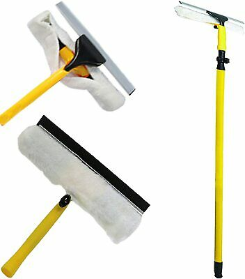 Window Cleaning Kit 3.5m Telescopic Window Cleaner Extendable Pole NEW   • 15.99£