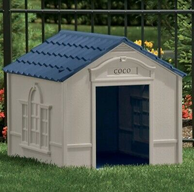 $125 • Buy Suncast Indoor Outdoor Dog House Large Safe Home Shelter Durable 33 X 38.5 X 32